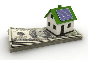 solar house with money
